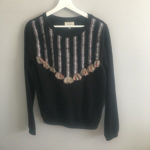 Zara Trafaluc Long Sleeve Pull Over Embellished